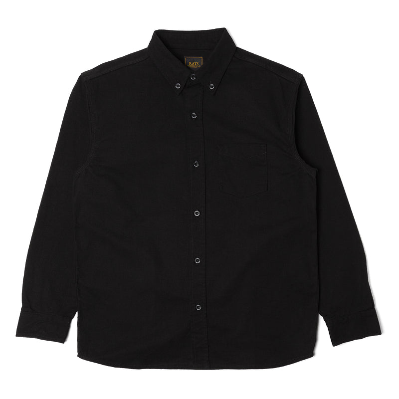 Rats Solid Flannel Shirt Black