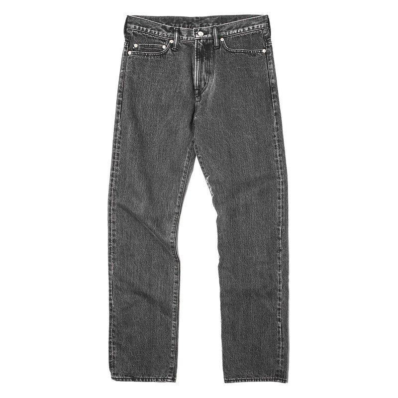 Rats Stone Wash Denim Pants Grey
