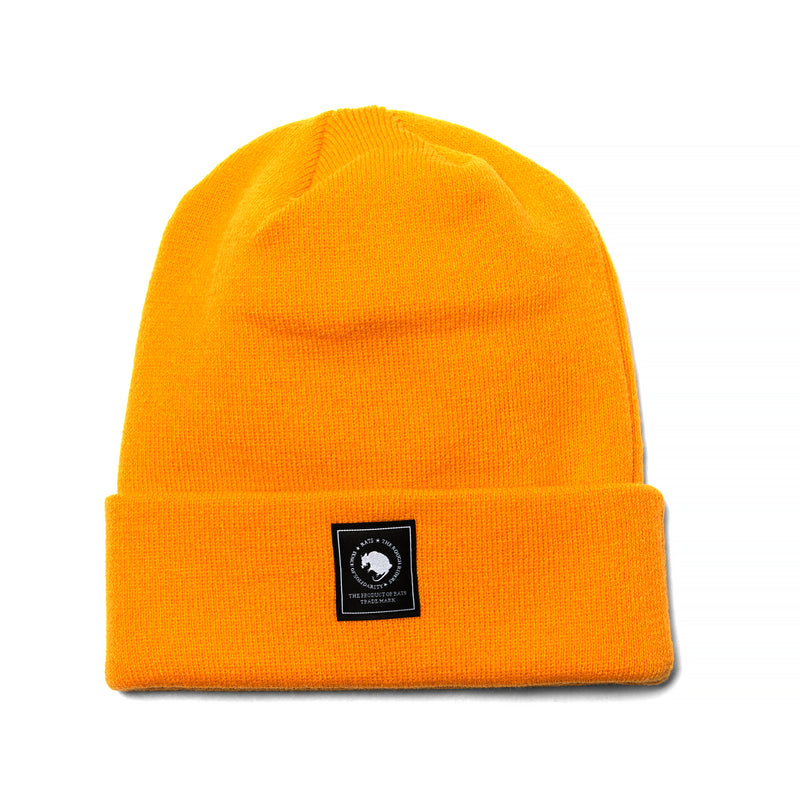 Rats Tag Knit Cap Orange