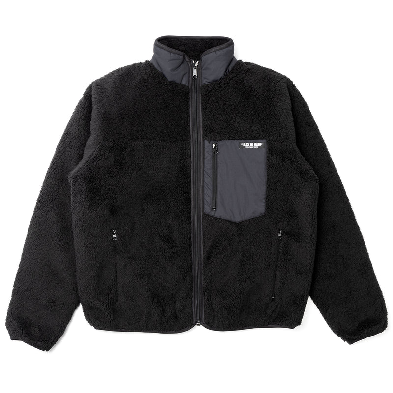 Rats Zip Fleece Jacket Black