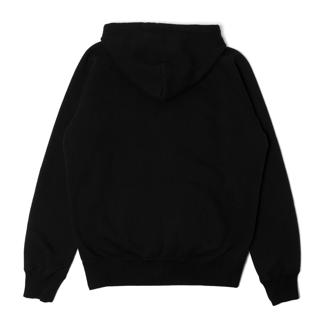 Rats Zip Up Parka Hooded Sweatshirt Black