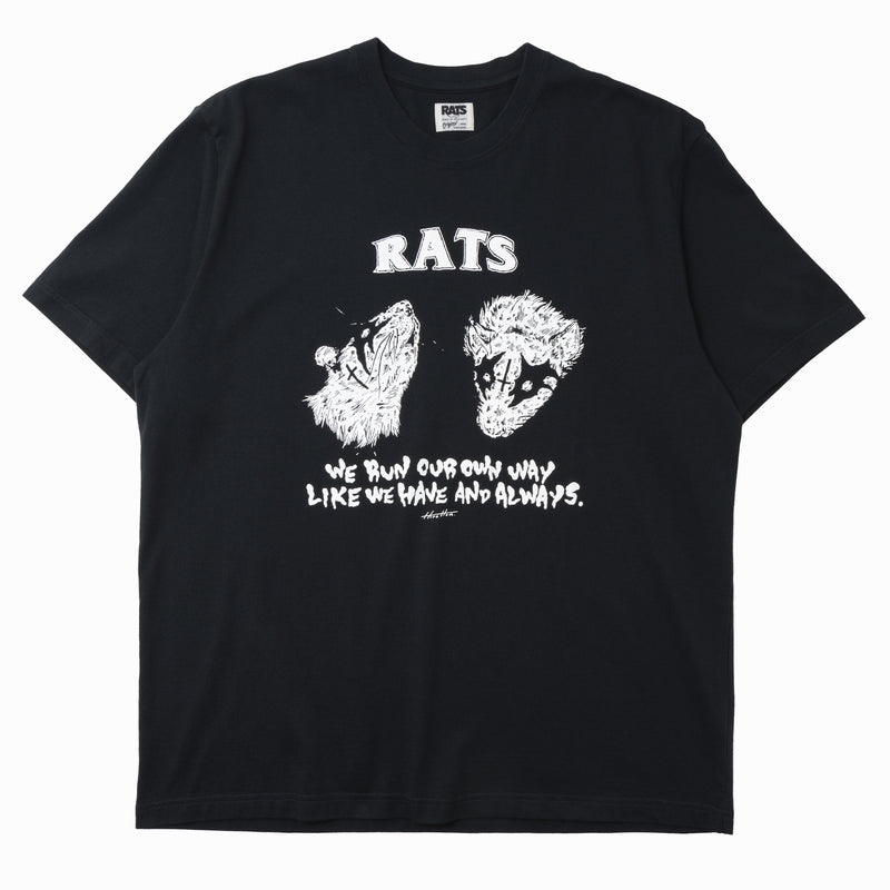 "Rats x Hirotton ""Our Own Way"" T-Shirt Black"