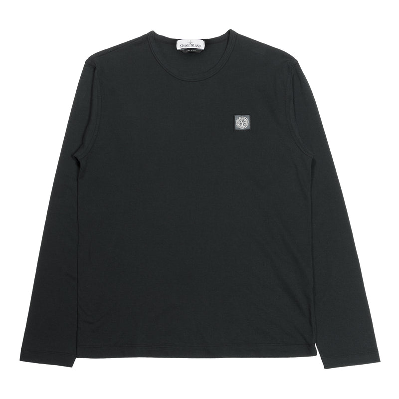 Stone Island Fissato Long Sleeve Tee Black