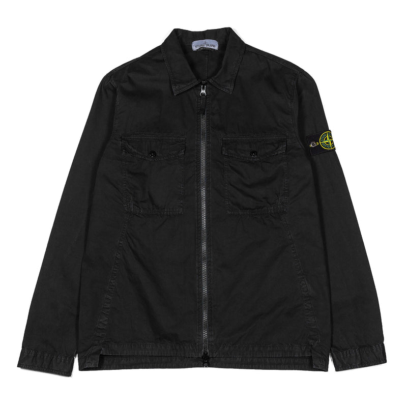 Stone Island Full Zip Shirt Jacket Black
