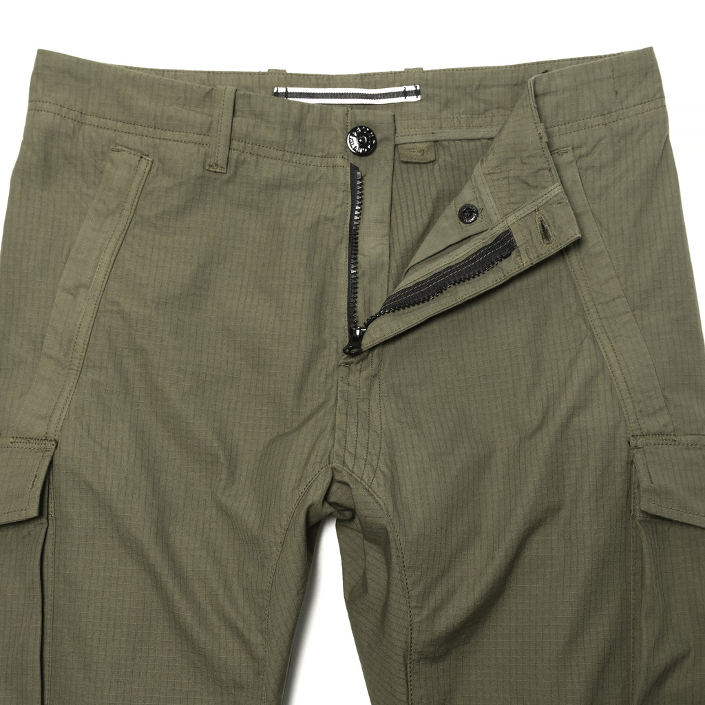 Stone Island Gauzed Cotton Ripstop Cargo Olive Drab