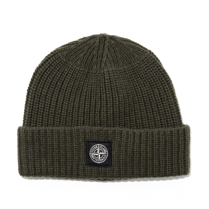 Stone Island Geelong Wool Beanie Green