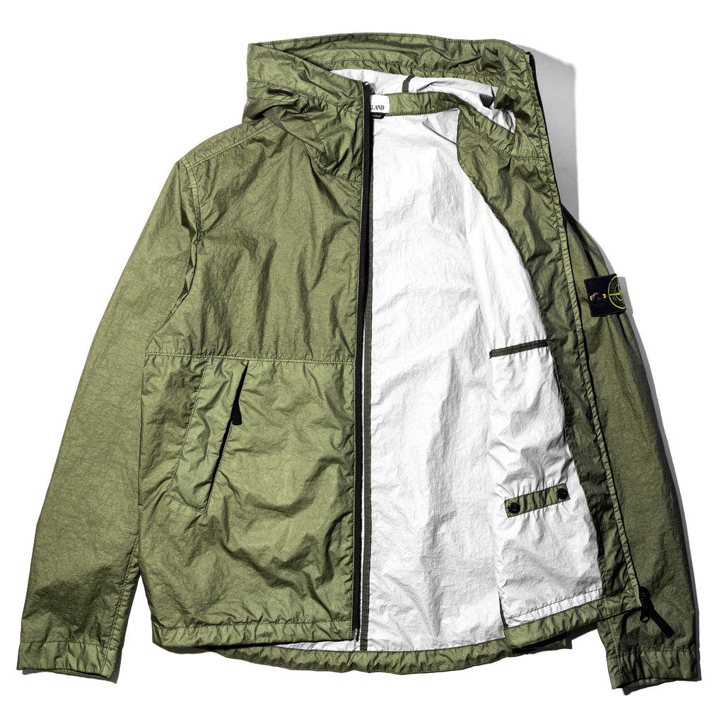 Stone Island Membrana 3L TC Hooded Jacket Olive Drab