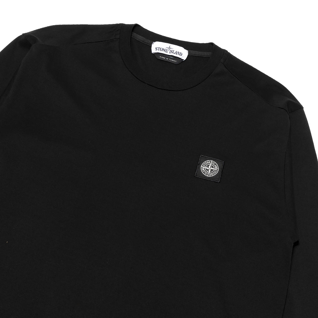 Stone Island Mercerized Cotton LS Tee Black