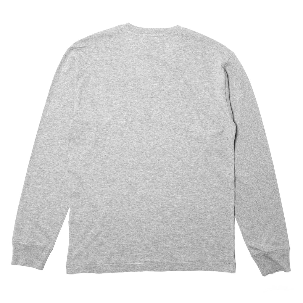Stone Island Mercerized Cotton LS Tee Stone Grey