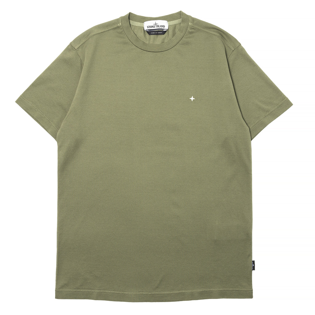 Stone Island Mercerized Cotton Piqué T-Shirt Olive Drab