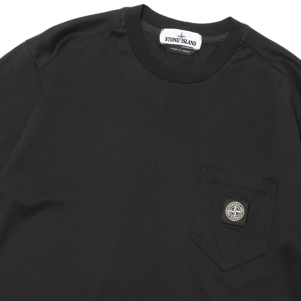 Stone Island Mercerized Pocket T-Shirt Black