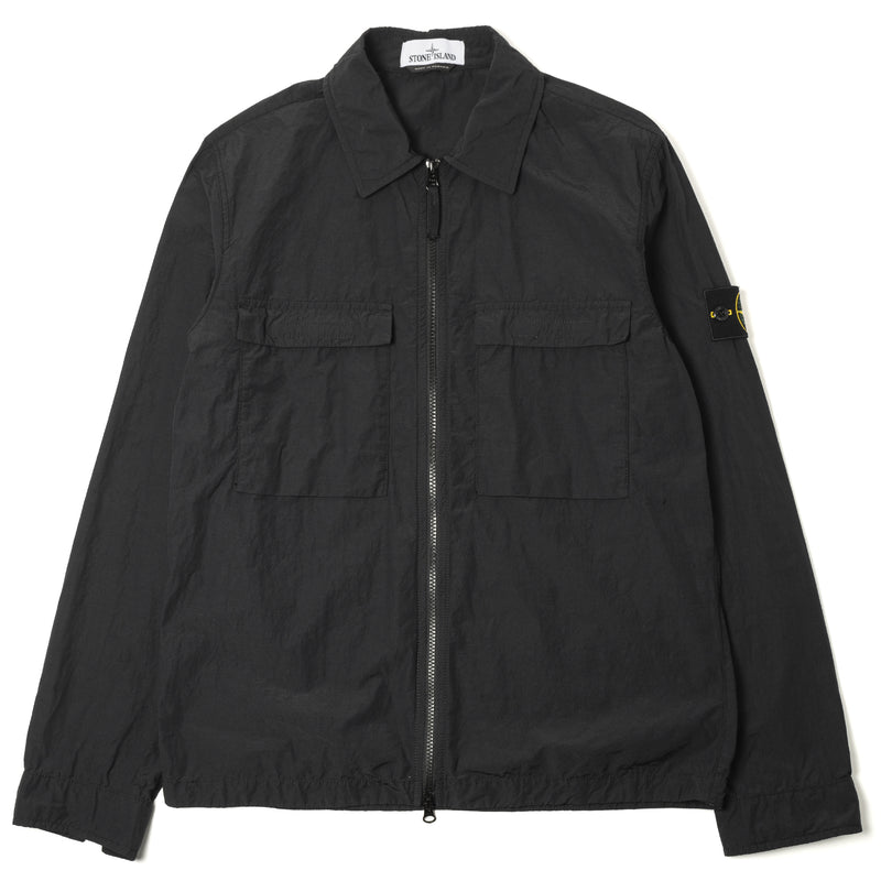 Stone Island Naslan Light Zip Overshirt Black