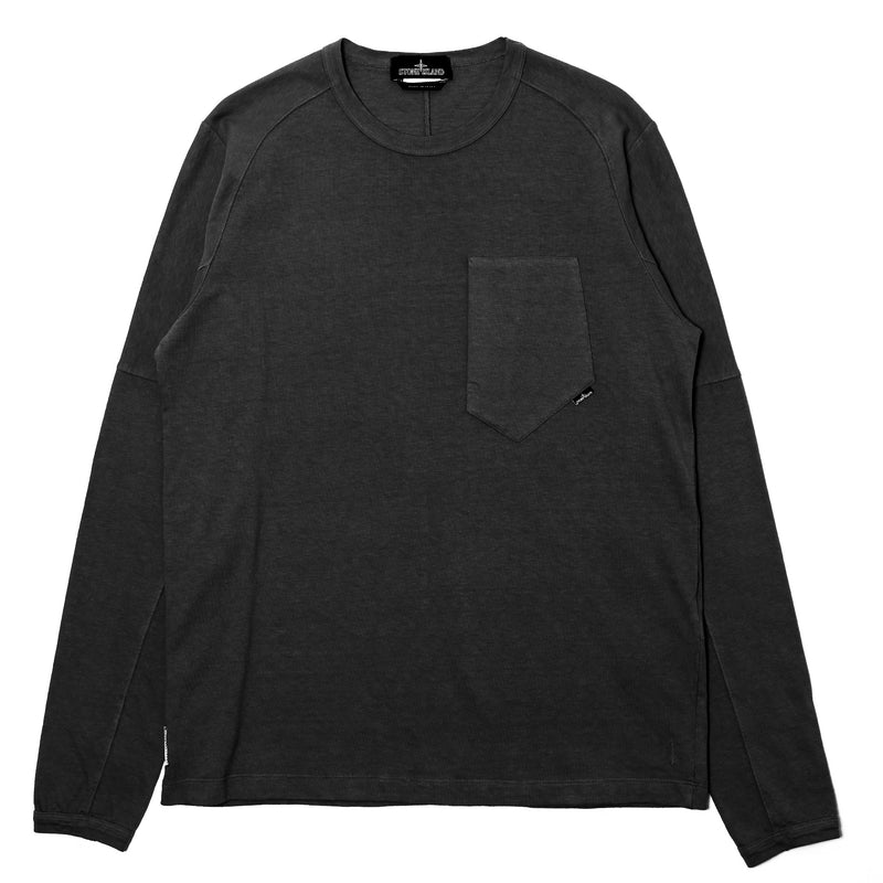 Stone Island Shadow Project Carded Cotton Jersey LS Tee Black