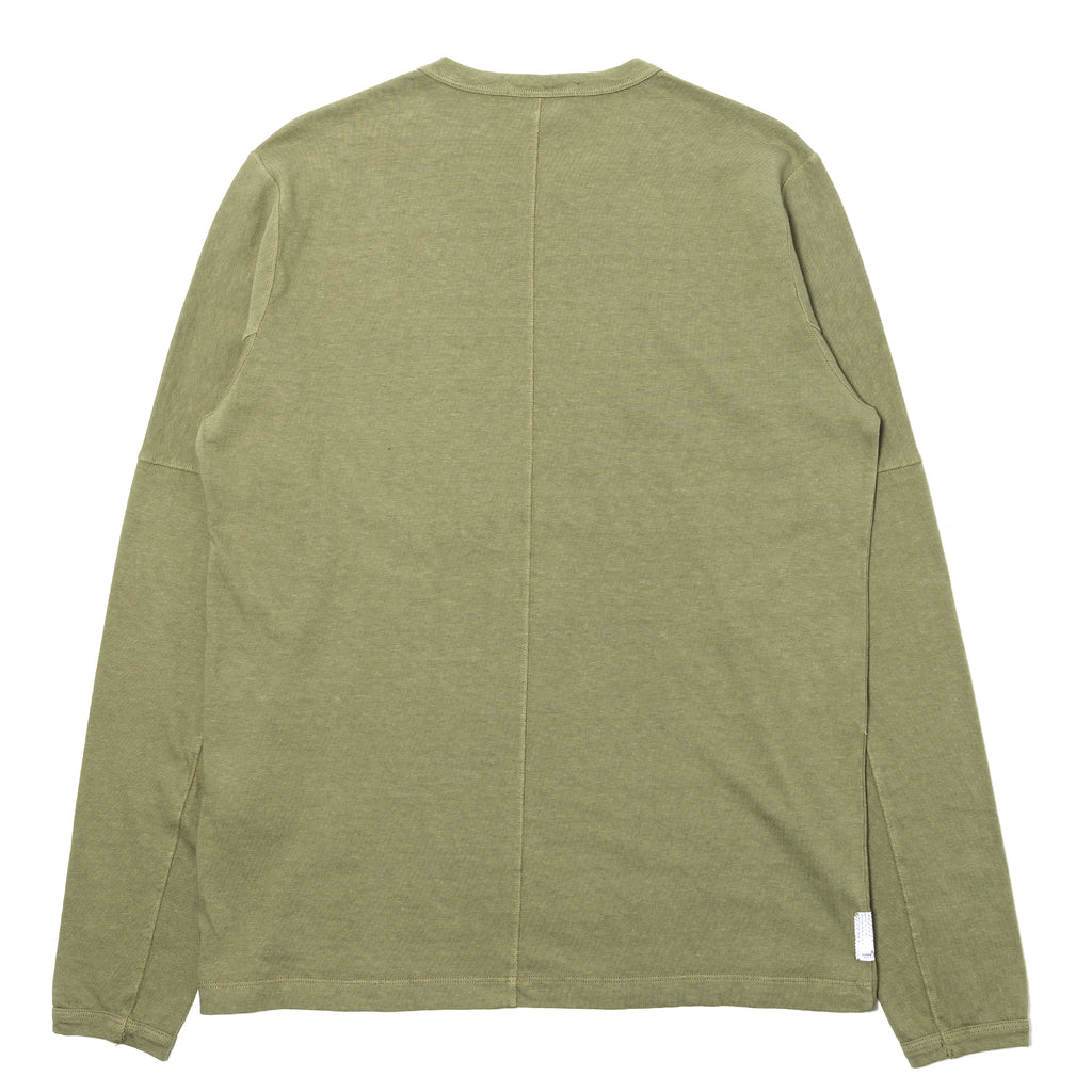 Stone Island Shadow Project Carded Cotton Jersey LS Tee Olive Drab
