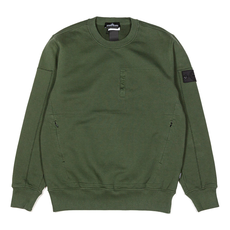 Stone Island Shadow Project Crewneck Sweatshirt Olive Drab