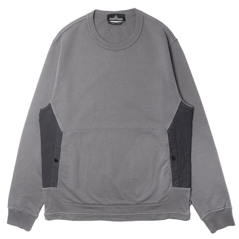 Stone Island Shadow Project Flank Pocket Crewneck Gray