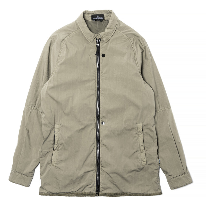 Stone Island Shadow Project Insulated Stretch Coach Jacket Olive Drab