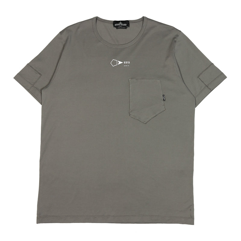Stone Island Shadow Project Jersey Mako Catch Pocket T-Shirt Olive