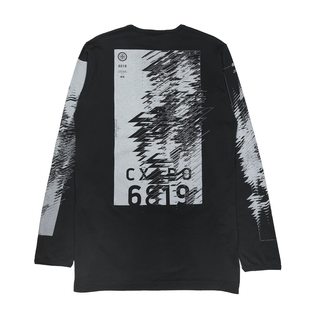 Stone Island Shadow Project LS Catch Pocket T-Shirt Jersey Mako Black