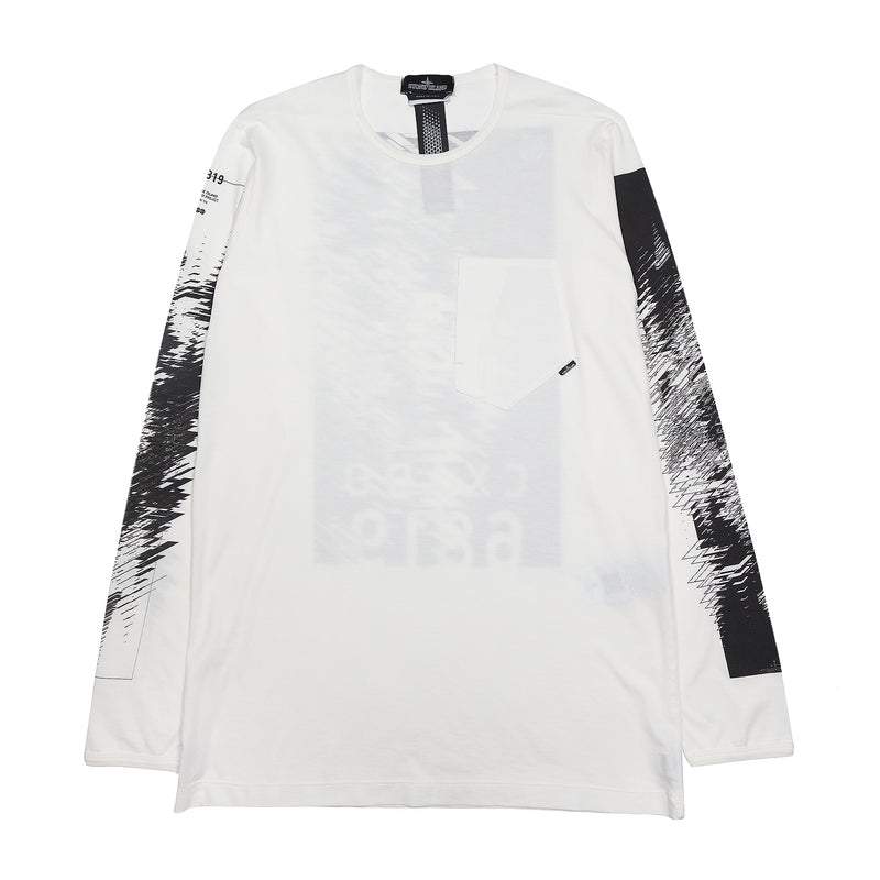 Stone Island Shadow Project LS Catch Pocket T-Shirt Jersey Mako White