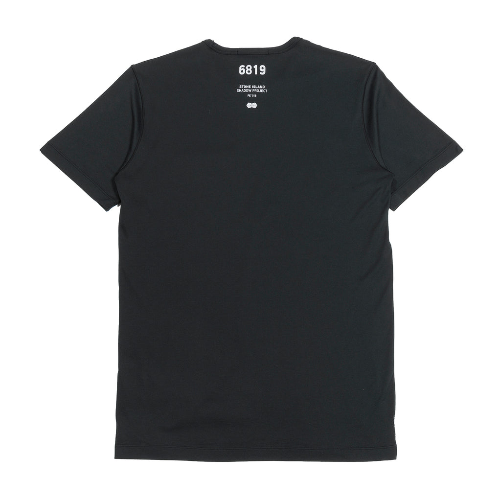 Stone Island Shadow Project Jersey Mako Catch Pocket T-Shirt Black