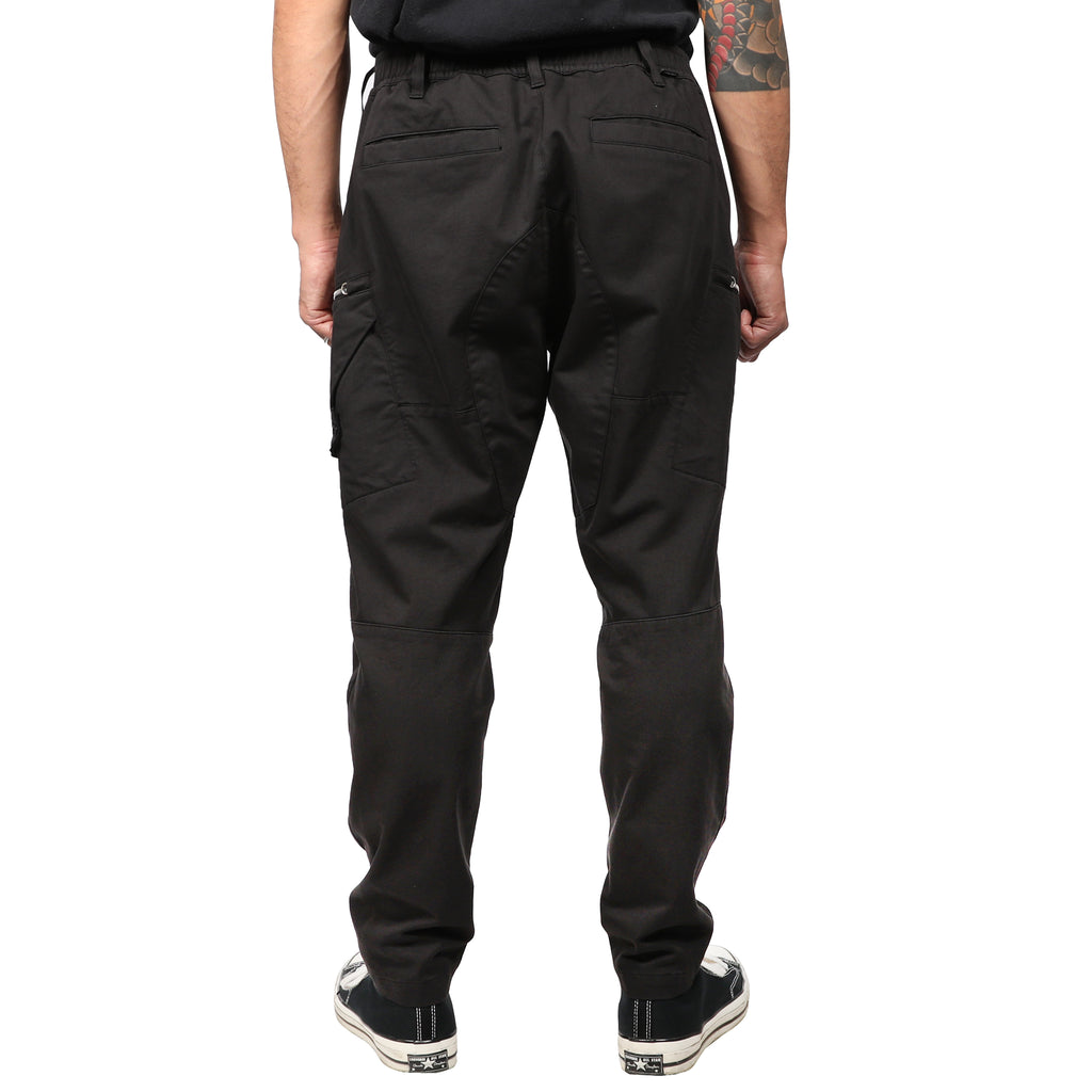 Stone Island Shadow Project Weft Cotton Satin Cargo Pants Black