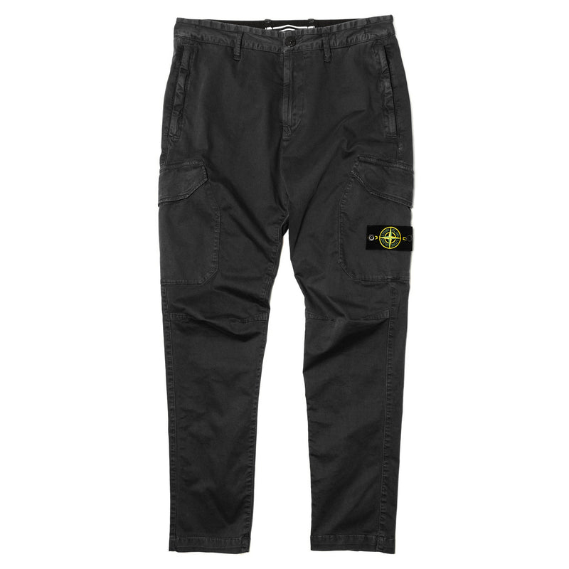 Stone Island Stretch Broken Twill Cargo Black