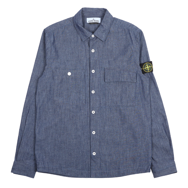 Stone Island Chambray L/S Shirt Wash