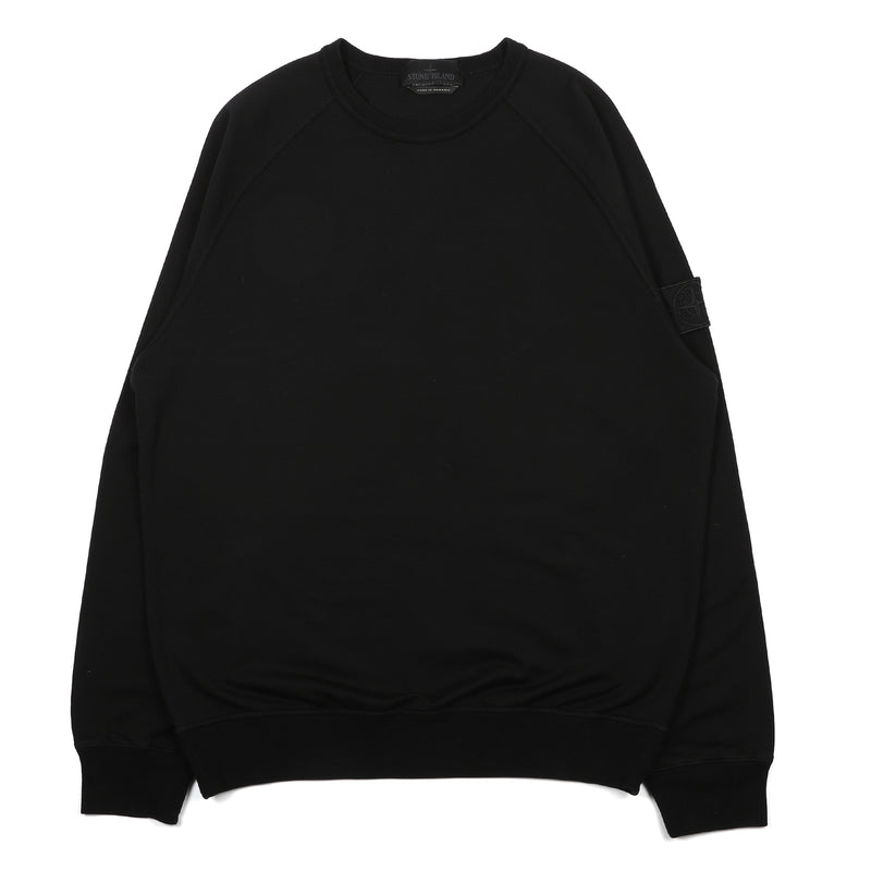 Stone Island Ghost Piece Stretch Fleece Crewneck Sweater Black