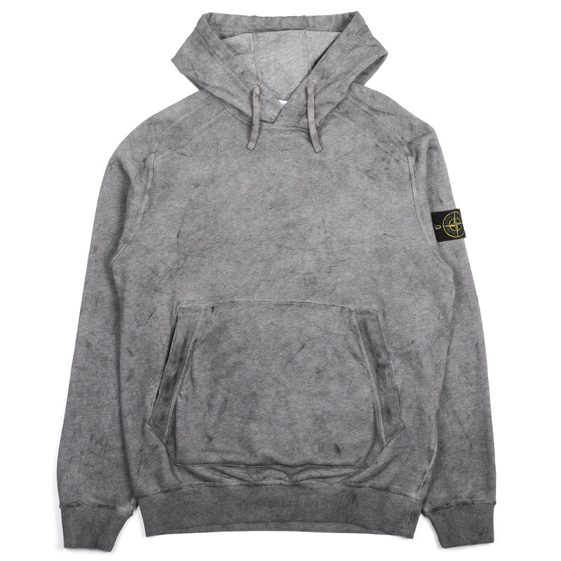 Stone Island Hooded Sweatshirt Black Melange