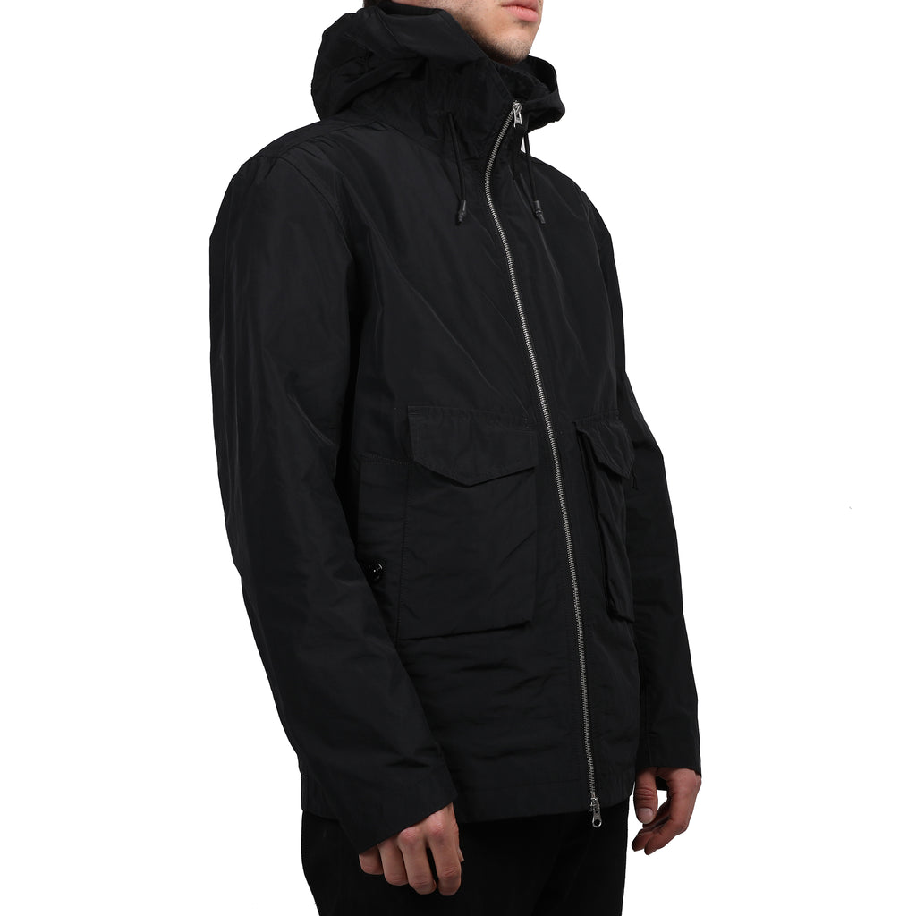 Stone Island Micro Reps Hooded Jacket Black