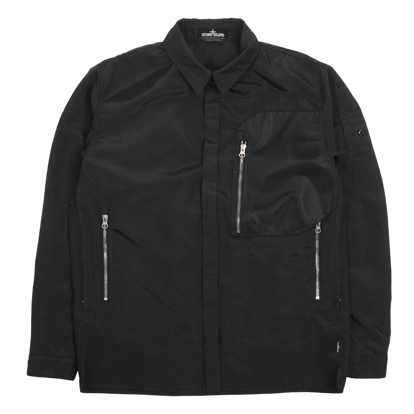 Stone Island Shadow Project Vented Overshirt Black