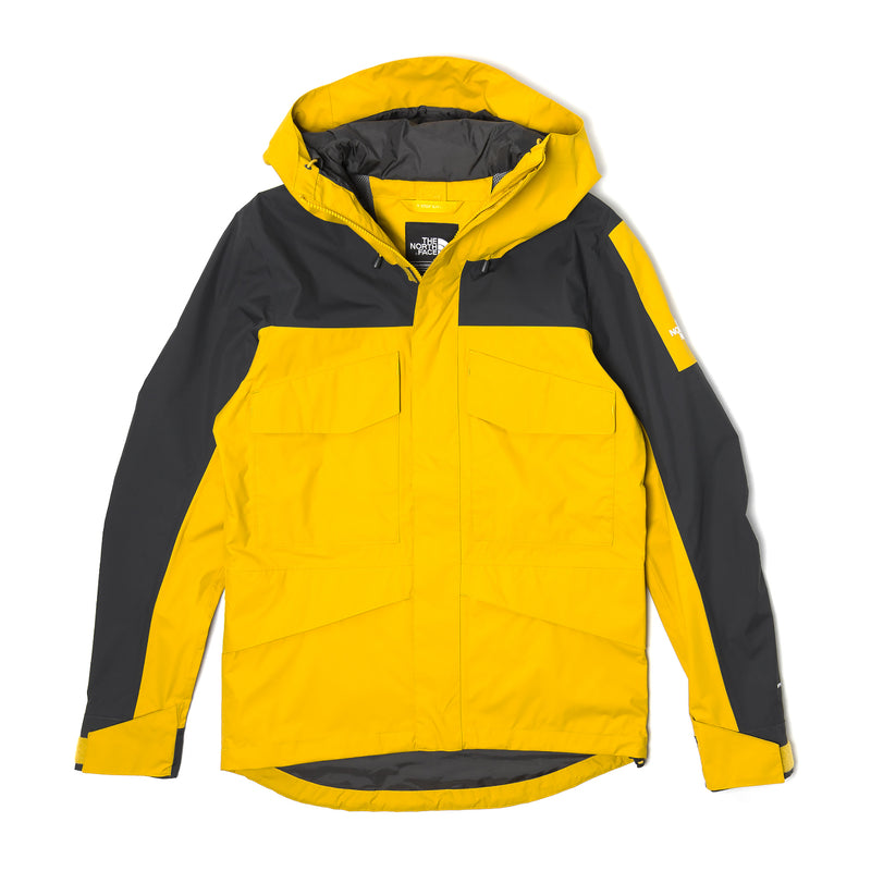 The North Face Fantasy Ridge Jacket Leopard Yellow Asphalt Grey