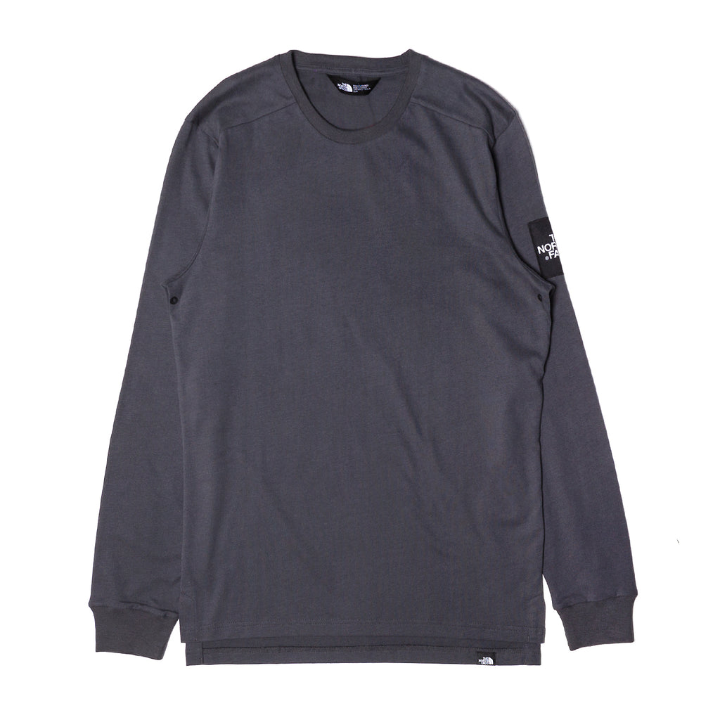 The North Face L/S Fine 2 Tee Asphalt Grey