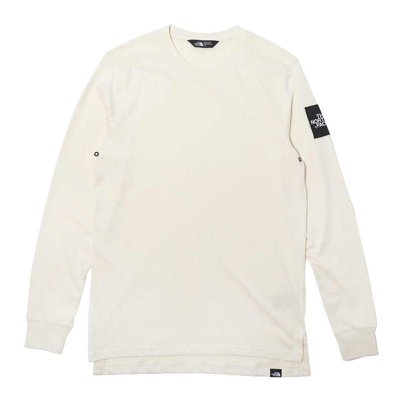 The North Face L/S Fine 2 Tee Vintage White