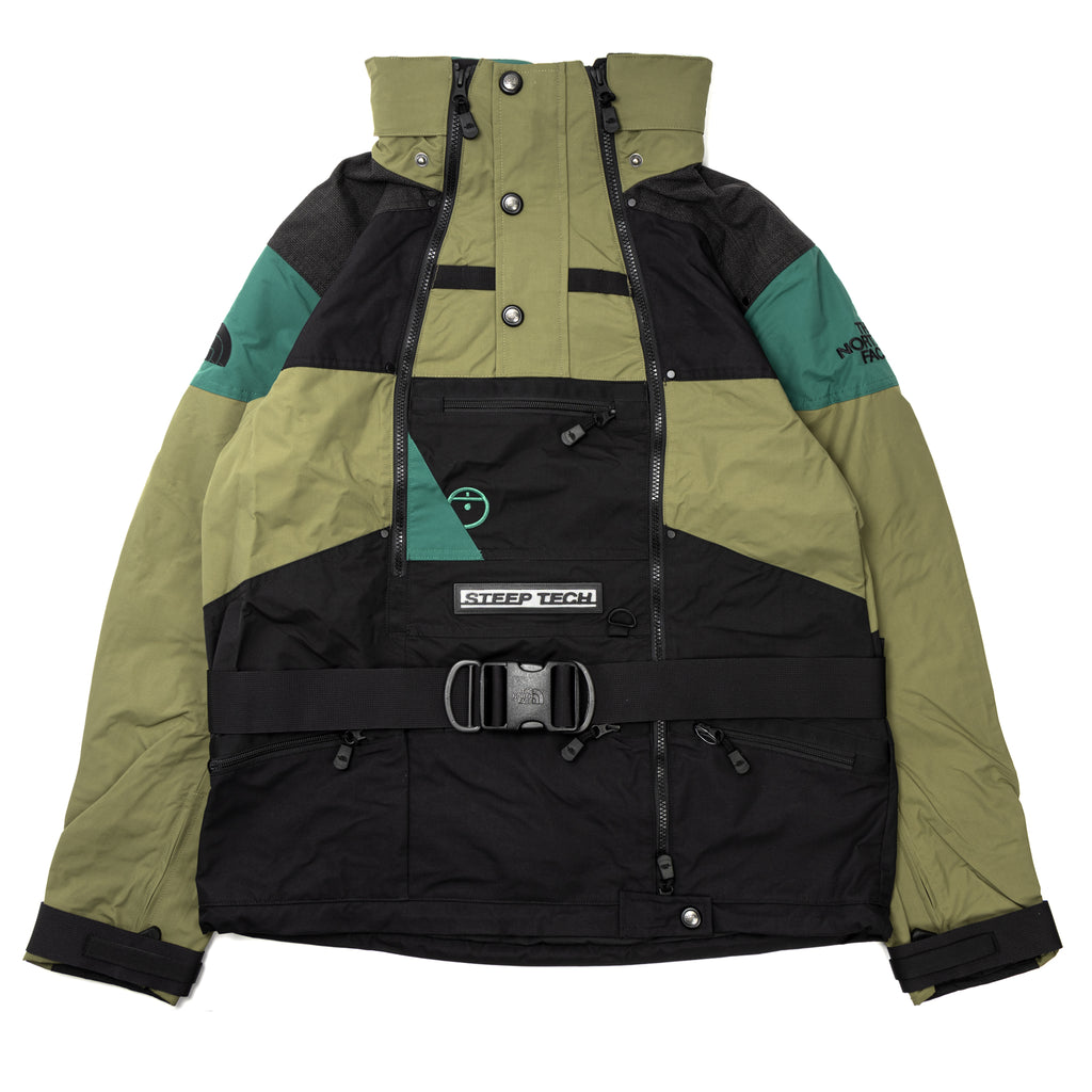 The North Face Steep Tech Jacket Burnt Olive Evergreen Black