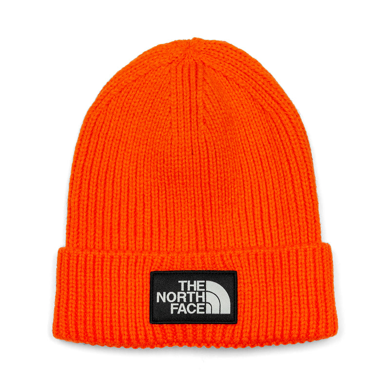 The North Face TNF Logo Box Cuffed Beanie Persian Orange
