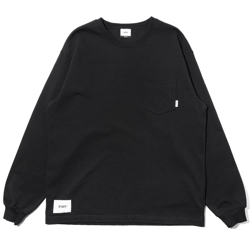 WTaps Blank LS 01 Cotton Tee Black