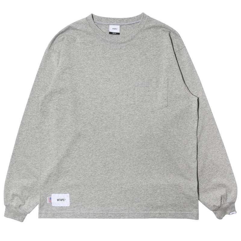 WTaps Blank LS 02 Made in USA Tee Gray