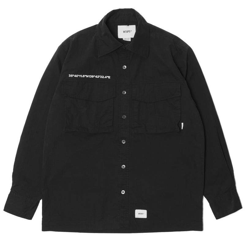 WTaps Seagull LS Nyco Ripstop Shirt Black