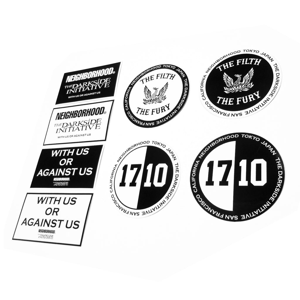 "The Darkside Initiative - Neighborhood x The Darkside Initiative ""17/10"" Sticker Pack"