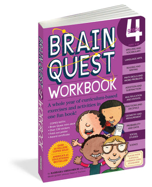 Book For Kids - Brain Quest Grade 4 Work Book
