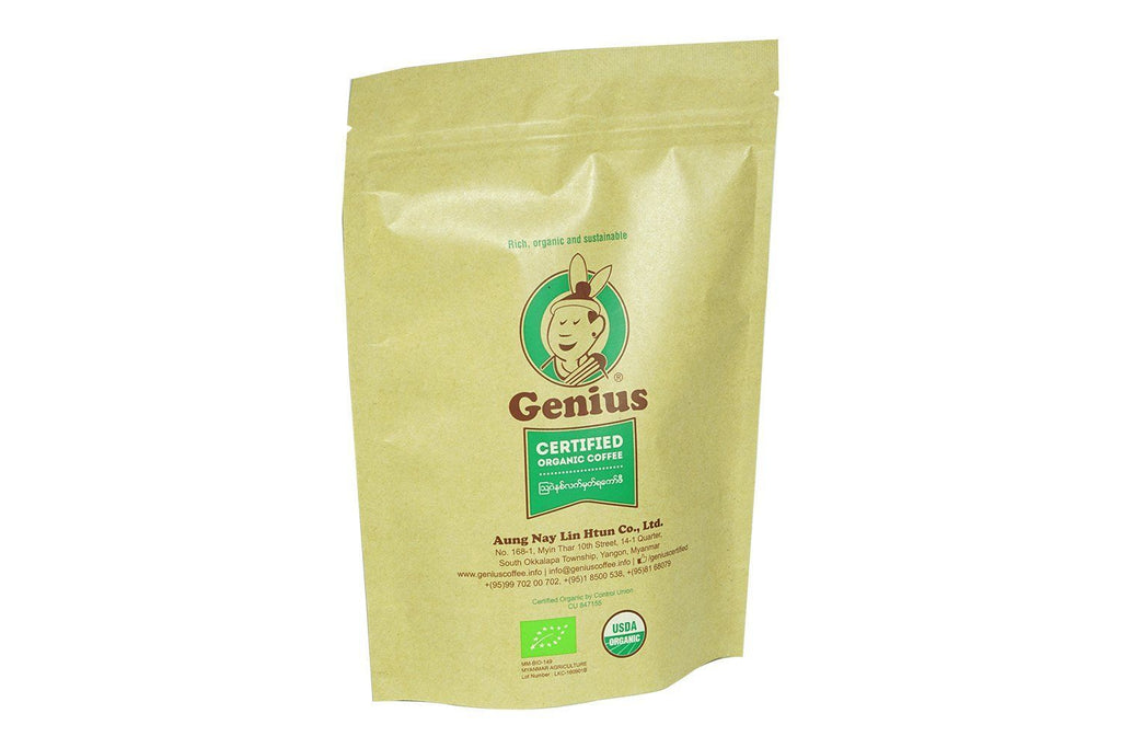 Coffee - Genius Certified Organic Coffee Beans 250g