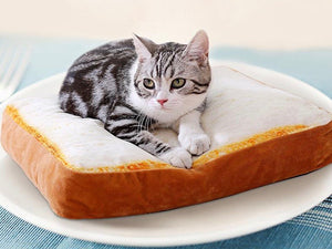 Pure Bread Cat Bed & Fried Egg Blankie