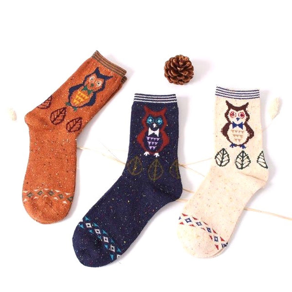 Somepawdy Loves Me Warm Retro Animal Socks (3 Pack)