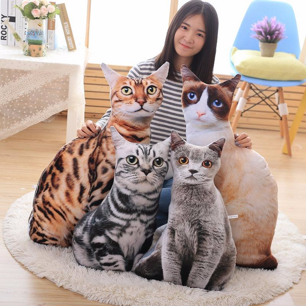 Play with Meow Cat Plush Pillows