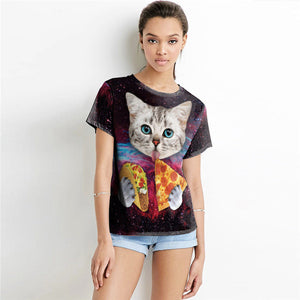 Purrpurroni Pizza Let's Taco Bout It Women's Cat T-Shirt