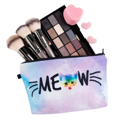 Rainbow Cat-cher Makeup Bag