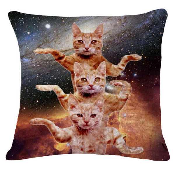 Astral Travel Cat Throw Pillow Covers