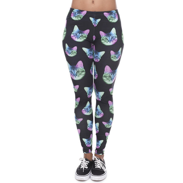 Cosmic Cat Stretch Leggings